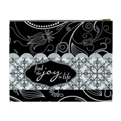 Find The Joy In Life Xl Cosmetic Bag By Klh   Cosmetic Bag (xl)   Kiua64zr99qg   Www Artscow Com Back
