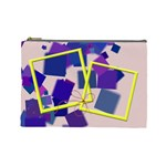 Blue and yellow - Cosmetic Bag (Large)
