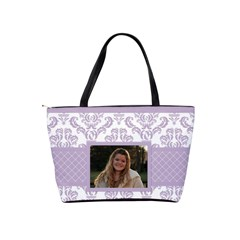 Lavender Love Classic Shoulder Bag By Klh   Classic Shoulder Handbag   O32fv6ih5rz3   Www Artscow Com Back