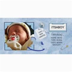 Baby Boy Announcement Cards By Lil    4  X 8  Photo Cards   Hire68ajvjn1   Www Artscow Com 8 x4 Photo Card - 1