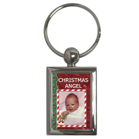 Christmas Angel Key Chain By Lil    Key Chain (rectangle)   0hqmyotvjdo6   Www Artscow Com Front