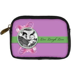 Live,laugh,love By Brookieadkins Yahoo Com   Digital Camera Leather Case   5tkb97bh5jbt   Www Artscow Com Front