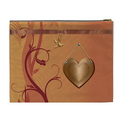 Copper Dove Xl Cosmetic Bag By Lil    Cosmetic Bag (xl)   Jvbglh3dnruj   Www Artscow Com Back