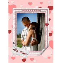 You And Me Valentine Card By Lil    Greeting Card 5  X 7    Rf58usqtzlx9   Www Artscow Com Front Cover