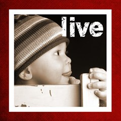 Live Laugh Love Christmas Red Photo Cube By Catvinnat   Magic Photo Cube   F6b52ch6y7pq   Www Artscow Com Side 1