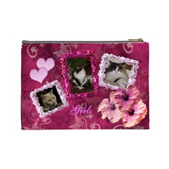 Cats By Karen   Cosmetic Bag (large)   Z9trz0vemfh3   Www Artscow Com Back