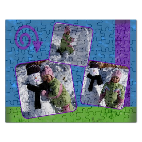 3 Photo Snow Puzzle By Amanda Bunn   Jigsaw Puzzle (rectangular)   Xubd68kej12d   Www Artscow Com Front