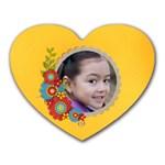 Mousepad-Heart-Cluster flowers - Heart Mousepad
