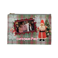 Christmas Past By Karen   Cosmetic Bag (large)   D6zm0hr5fe89   Www Artscow Com Front