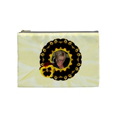 Yellow Pansy Medium Cosmetic Case By Joan T   Cosmetic Bag (medium)   Cd0xqnpb7aa6   Www Artscow Com Front