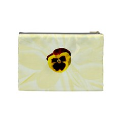 Yellow Pansy Medium Cosmetic Case By Joan T   Cosmetic Bag (medium)   Cd0xqnpb7aa6   Www Artscow Com Back