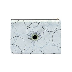 White Daisy Medium Cosmetic Case By Joan T   Cosmetic Bag (medium)   97sy1uxgu4d7   Www Artscow Com Back