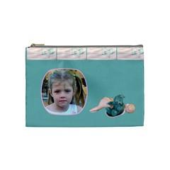Teddy Time Medium Cosmetic Case By Joan T   Cosmetic Bag (medium)   Gl6aj38gp4l8   Www Artscow Com Front