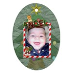 Angel Christmas Ornament - 1 sided - Ornament (Oval)
