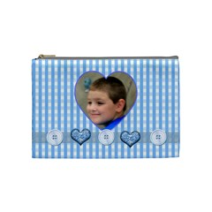 Baby Blue Medium Cosmetic Case By Joan T   Cosmetic Bag (medium)   Uh7y6v3733or   Www Artscow Com Front