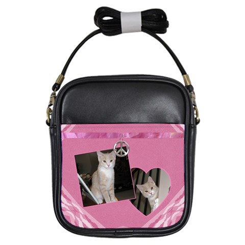 Pink Peace Girls Sling Bag By Lil    Girls Sling Bag   Rj753ih1quic   Www Artscow Com Front