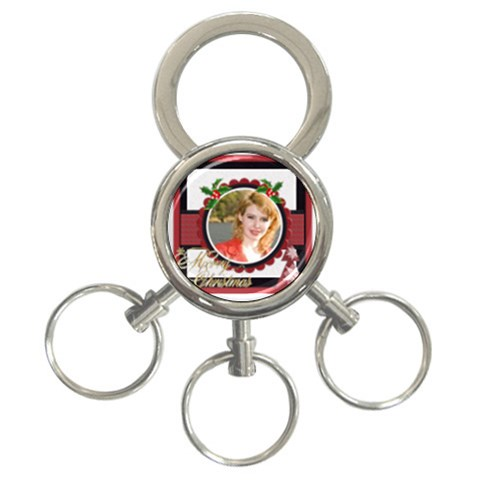 Xmas By Joely   3 Ring Key Chain   Xv7ehvu440zp   Www Artscow Com Front