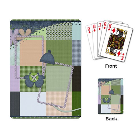 Playing Card Blustery Day 1001 By Lisa Minor   Playing Cards Single Design   Ns1q326nedde   Www Artscow Com Back