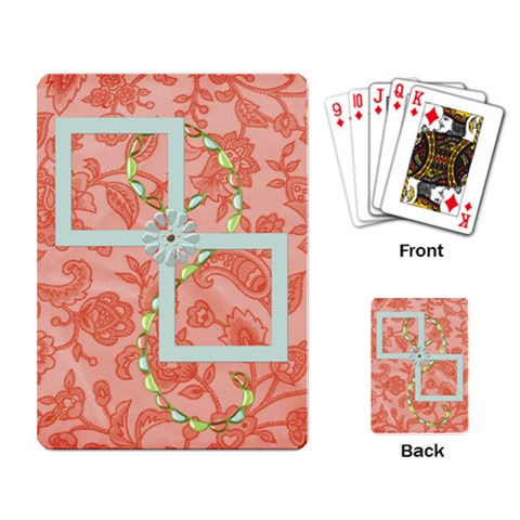 Playing Cards Spring Blossom By Lisa Minor   Playing Cards Single Design   N3zbzubzgef0   Www Artscow Com Back