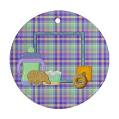 Ornament Foodie 1001 By Lisa Minor   Round Ornament (two Sides)   Vlr3dxts2isv   Www Artscow Com Front