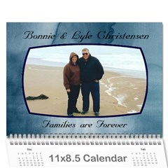 Mom And Dad By Jana   Wall Calendar 11  X 8 5  (12 Months)   Ks4m1wf8k0ow   Www Artscow Com Cover