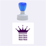 Crown - Rubber Stamp Round (Medium)