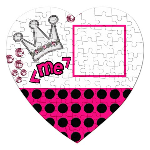 Princess   Puzzle By Carmensita   Jigsaw Puzzle (heart)   Ue0m8av5kc82   Www Artscow Com Front