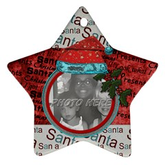 By Brookieadkins Yahoo Com   Star Ornament (two Sides)   Zx2rzavv6hvf   Www Artscow Com Front