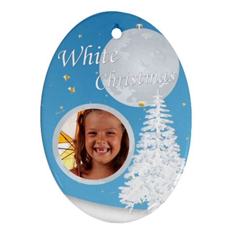 Xmas By Joely   Ornament (oval)   Qc9ehhm31u4n   Www Artscow Com Front