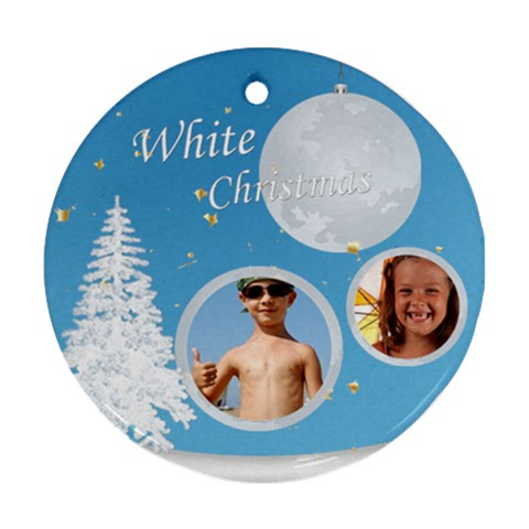 Xmas By Joely   Ornament (round)   9ffznzg7552u   Www Artscow Com Front