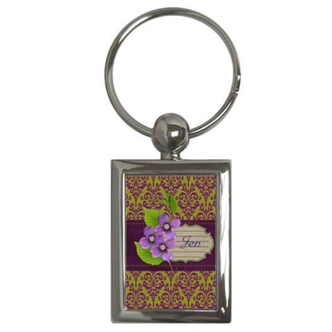 Keychain  Lavander Love By Jennyl   Key Chain (rectangle)   L1p9rvmjoa9f   Www Artscow Com Front