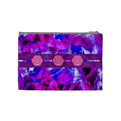 Pink Plums Medium Cosmetic Case By Joan T   Cosmetic Bag (medium)   W9fv5k0nkx3g   Www Artscow Com Back