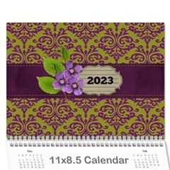 Calendar  Lavander Love By Jennyl   Wall Calendar 11  X 8 5  (12 Months)   Lf1832mq4b53   Www Artscow Com Cover