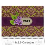 Calendar- Lavander Love - Wall Calendar 11  x 8.5  (12-Months)