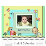 Baby s First Year - Wall Calendar 11 x 8.5 (12-Months)