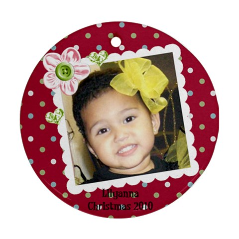 Lily2010 By Leslie   Ornament (round)   0luaipltpgci   Www Artscow Com Front