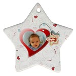 With love - ornament - Star Ornament (Two Sides)