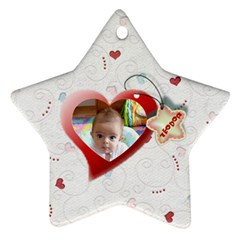 With Love   Ornament By Daniela   Star Ornament (two Sides)   U7mxn2aaz7ty   Www Artscow Com Back