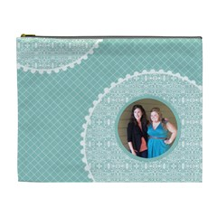 Tiffany Blue Circles Xl Cosmetic Bag By Klh   Cosmetic Bag (xl)   2fl11ygljgpp   Www Artscow Com Front