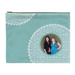 Tiffany Blue Circles XL Cosmetic Bag - Cosmetic Bag (XL)