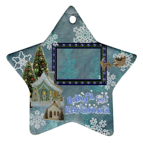 Village Blue Baby s 1st Christmas 2010 Ornament 70 By Ellan   Ornament (star)   Jrexvpy9y53j   Www Artscow Com Front
