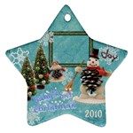 snowman blue baby s 1st Christmas 2010 ornament 93 - Ornament (Star)