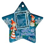 elf elves Baby s 1st Christmas blue2 2010 ornament  130 - Ornament (Star)