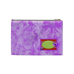 Cosmetic Bag Miss Ladybugs Garden 1002 By Lisa Minor   Cosmetic Bag (medium)   X3we2vlqrrtj   Www Artscow Com Back