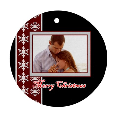 Xmas By Wood Johnson   Ornament (round)   Ml8mn0m8bovz   Www Artscow Com Front