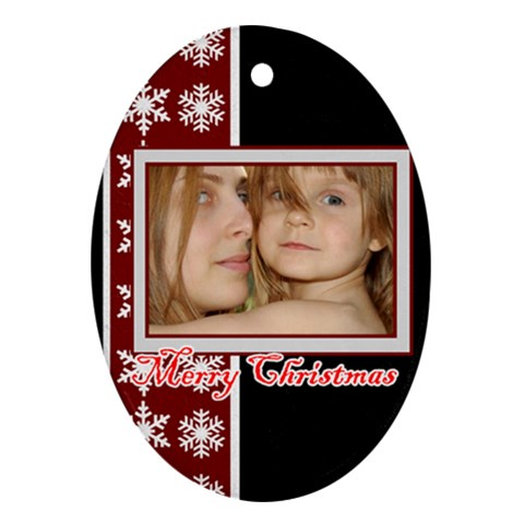 Xmas By Wood Johnson   Ornament (oval)   Kn96wnmdigj0   Www Artscow Com Front