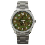 Cammo round watch - Sport Metal Watch