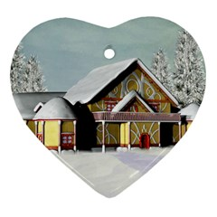 Here Comes Santa Ornament 1 By Snackpackgu   Heart Ornament (two Sides)   Kmsascnmekur   Www Artscow Com Back