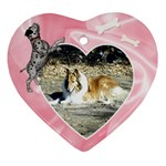 Doggie Love  - Heart Ornament (Two Sides)