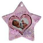Love You This Much purple lavander - Ornament (Star)
